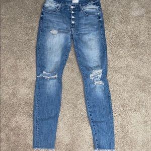 MOTHER Denim size 28 Skinny rip jeans